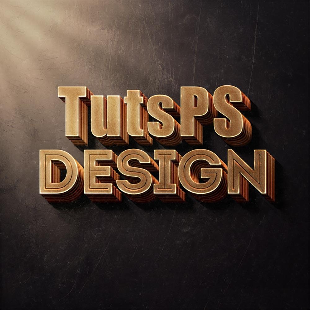 effet de texte 3d avec photoshop cc tuto photoshop. Black Bedroom Furniture Sets. Home Design Ideas