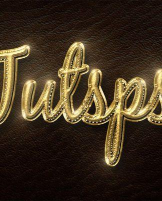 Réaliser un effet d'or sur un texte avec Photoshop